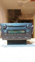 Rádio CD ORIGINAL TOYOTA COROLLA 2012  BLUETOOTH USB AUX MP3