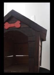 casa linda de madeira para cachorros!!