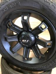 Rodas Aro 20 5x120 GT-7 Off Road com pneus novos