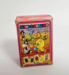 Mini Baralho Looney Tunes Miniatura Coleção Anos 90 Antigo