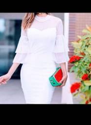 Vestido branco MARINA RUY BARBOSA