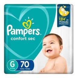 Fralda Pampers Confort Sec G 70 unidades