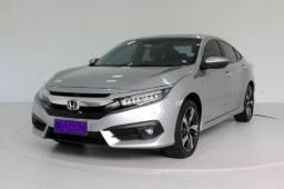 Honda Civic 1.5 Turbo Touring 4P Automático CVT 7M Prata
