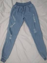 Calça jogger jeans feminina