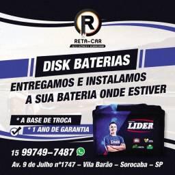 Título do anúncio: Baterias de Carro marca Líder / Com garantia