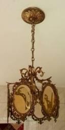 Lustre de bronze antigo
