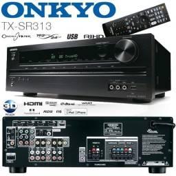 Receiver Onkyo Tx-sr313 Hdmi 3d Usb Impecavel