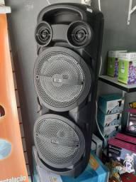 Caixa De Som com Microfone sem fio Torre