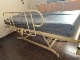 Cama solteiro ajustavel com colchão e colchão com sistema de pressão alternada