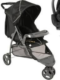 Combo carrinho de bebê +bebê conforto com brindes