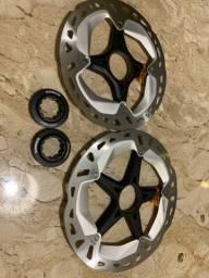 Discos de Freio / Rotores Shimano XT MT800 Ice Tech Freeza 180 + 160mm