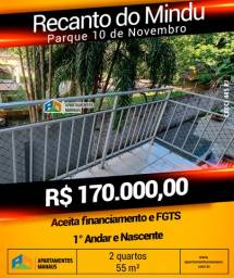 Condomínio Recanto do Mindu 2Qts  R$ 170 mil Parque 10 de Novembro