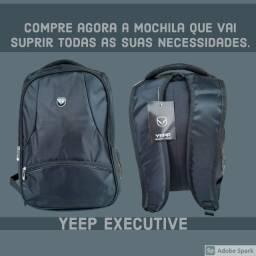 "Mochila Executiva Preta Para Notebook Yepp Executive 18,5"""