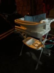 Trocador de fralda com banheira
