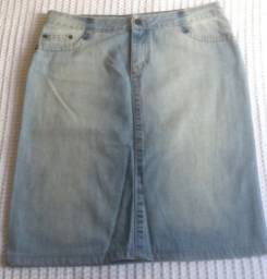Saia Lápis Jeans Zara