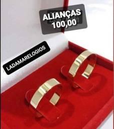 ALIANÇAS 4mm DISPONÍVEL TITÂNIO BANHADAS AO OURO Disponível