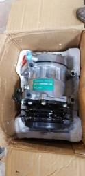 Compressor ar condicionado escavadeira new holand e215