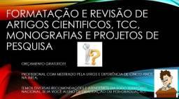 Revisão e Formatação de TCC's , Artigos Científicos, Resenhas (Padrão ABNT)