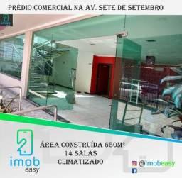 Alugo prédio comercial na Av. Sete de Setembro, 650 m², 14 salas( aceitamos cartão)