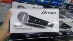 Microfone com fio sm58