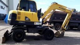 Escavadeira de pneus c lâmina trator esteira frontal -mod R 55W ano 2008 - 1040 horas