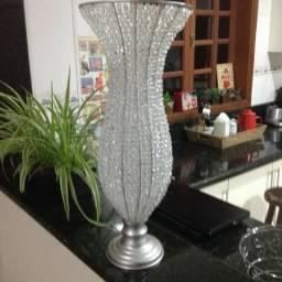 Vasos aramados com cristais - pedraria em acrilico