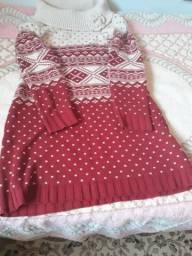 Veste legg de lã vermelho com bege