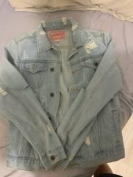 Jaqueta Jeans Rasgada