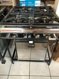 Fogão 4 bocas alta pressão com forno