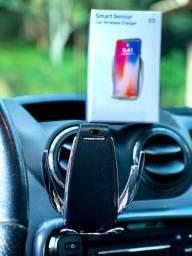 Abertura Automática- Carregador Wireless e Suporte veicular para Smartphone