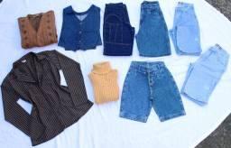 Lote de Roupas Calças e Shorts Mom Jeans Vintage Cgc 11 Peças