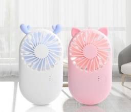 Mini Ventilador De Mão Bolso Mesa Gatinho 3 Vel Recarregável