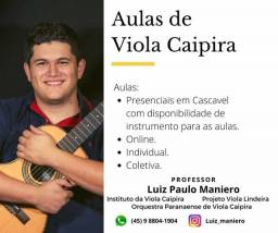 Aulas de Viola Caipira Prof° Luiz Maniero