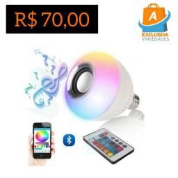 Lâmpada Led Muisic Via Bluetooth + Entrega Grátis