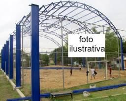 Estrutura Metálica p/ Quadra Poliesportiva 24x36m