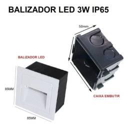 Título do anúncio: Balizador de Escada / Parede 3w Branco Quente - Tj02bbq - Mega Infotech
