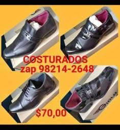 Sapatos sociais costurados marca giolo(pronta entrega)