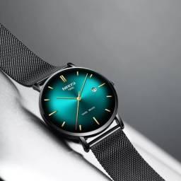 Relógio Preto com Verde Sinobi