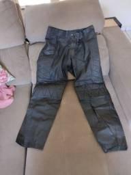 Calça de couro legítimo masculina motociclista Tam 48