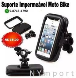 Suporte impermeável (Não Molha) Para Celular e Gps Moto Bike 6,2 Polegadas