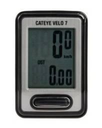 Velocimetro Ciclocomputador Cateye Velo 7 Funções Preto