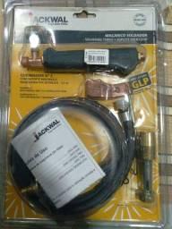 Maçarico soldador GLP com suporte jackwal