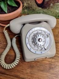 Antigo telefone Ericson anos 80/90 original na cor cinza