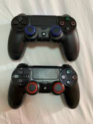 2 Pares Grips Borracha Silicone Controle Ps4 Ps5 Xbox One X