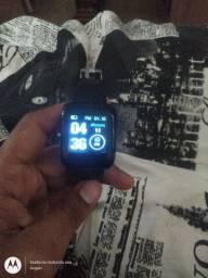 Relógio Inteligente Smartwatch Iwo FitPro Y68 Preto<br><br>