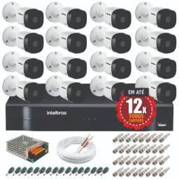 16 Câmeras intelbras - Kit completo instalado