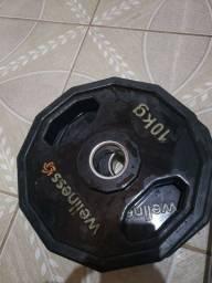 Anilhas 10 kg (olímpicas)