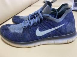 Nike Free RN Flyknit Azul Tamanho 44/45br
