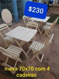 Mesas e cadeiras direto da fábrica