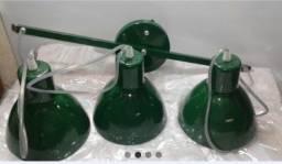 Luminária pendente verde para lâmpada E 27